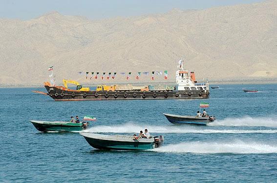 قشم افتتاح پل خلیج فارس