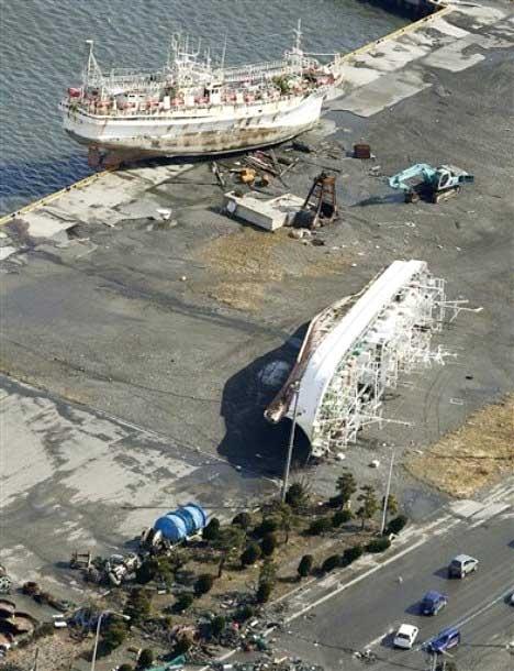 گزارش تصویری از زمین لرزه ژاپن