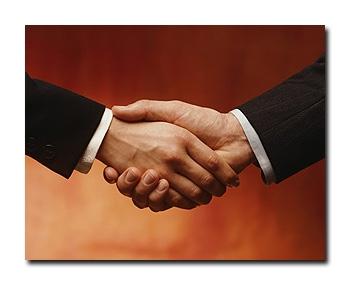 روابط عمومی - دست دادن
