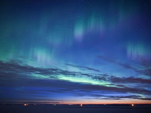 شفق های رنگارنگ قطبی