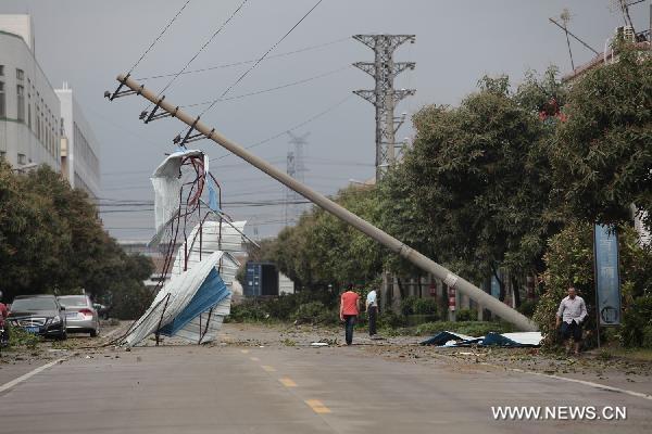 18 کشته و 155 زخمی در طوفان چین