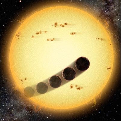 مدلی جدید برای حرکت وارونه سیارات فرامنظومه خورشیدی