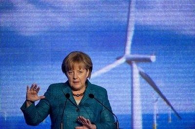 مرکل نیروگاه بادی ساحلی آلمان را افتتاح کرد