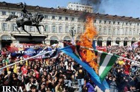 اعتصاب سراسری در ایتالیا علیه برلوسکونی