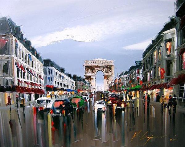 نقاش زندگی شهری