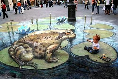 نقاشی بر روی بناها و خیابانها