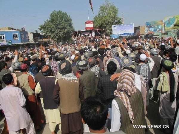 12 کشته و 80 زخمی در تظاهرات ضد ناتو در افغانستان