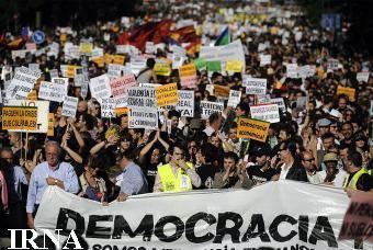 معترضان در اسپانیا خواستار تغییر قانون انتخابات هستند