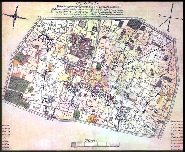 نقشه تهران قدیم