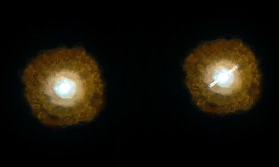 دو سیاهچاله در مرکز یک کهکشان