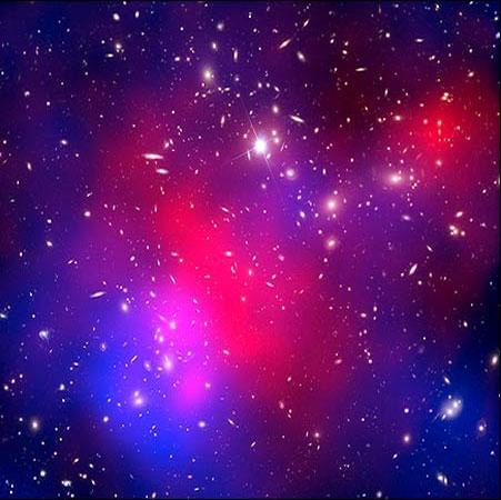 بزرگترین برخورد خوشه های کهکشانی