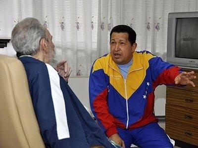 چاوز و فیدل کاسترو