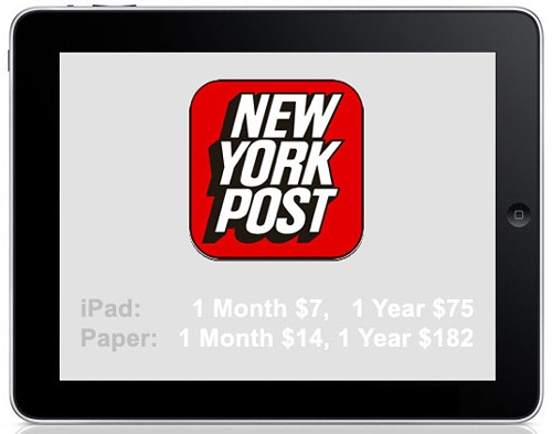 The New York Post in ipad