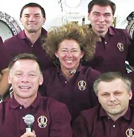 فضانوردان در ایستگاه بینالمللی فضایی