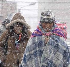 bolivia snow