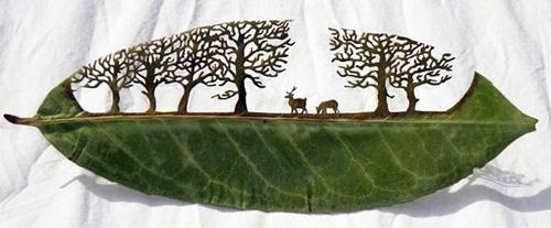 برش هنری برگ درختان