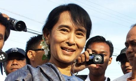 نخستین دیدار سوچی با رییس دولت میانمار