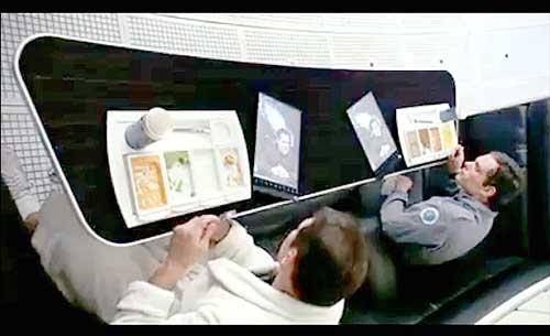 صحنه ای از فیلم اودیسه فضایی 2001 که وکلای سامسونگ به آن استناد کرده اند
