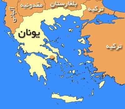 نقشه یونان