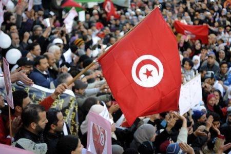 برگزاری اولین سالگرد انقلاب تونس