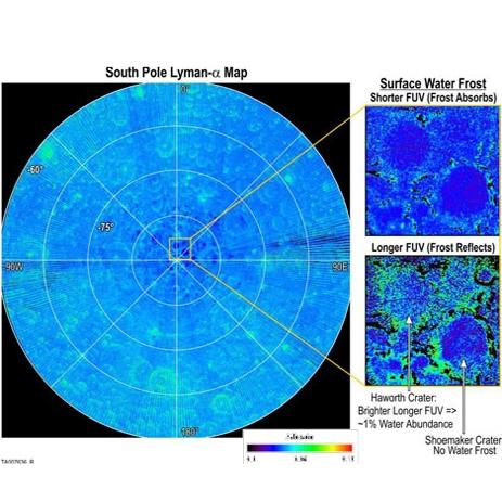 قطبهای شمال و جنوب ماه