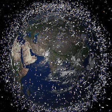 زباله های فضایی