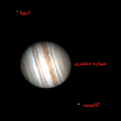 سیاره مشتری و قمرهای نزدیک به آن