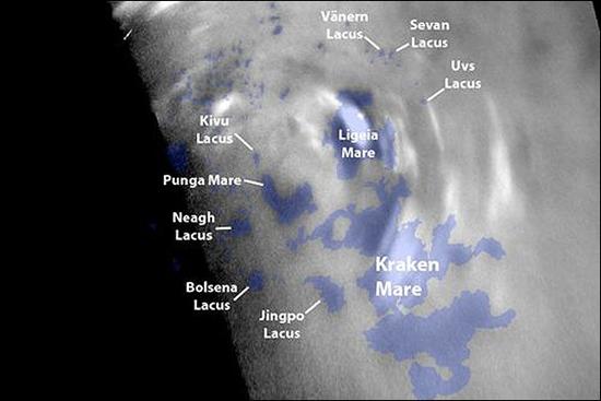 دریاچه های تیتان در قطب شمال