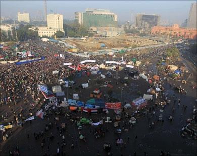 شعارهای ضد صهیونیستی مردم در میدان التحریر