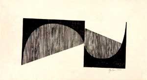 آثار پاپه خیلی سادهاند. او در آثار چاپ دستیاش هم از سادهترین شکلهای هندسی و رنگ سیاه استفاده میکرده است.