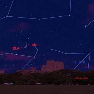 مقارنه ماه و سیاره سرخ