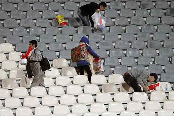 تماشاگران کرهای نظافت بهداشت