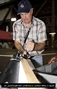 این کپسول با پره های چرخشی در مرکز فضایی کندی در فلوریدا آزمایش شد
