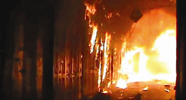 آتش سوزی - بازار قدیمی حلب -سوریه