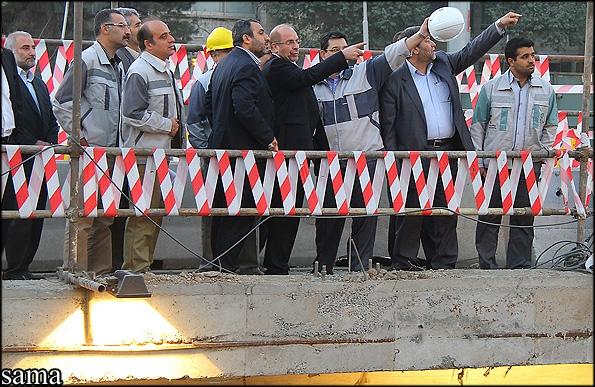 بازدید شهردار تهران از پروژههای بزرگراه طبقاتی صدر