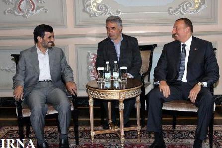 احمدی نژاد و الهام علی اف دیدار و گفت و گو کردند