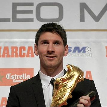 """""""لیونل مسی"""" برنده کفش طلای اروپا"""