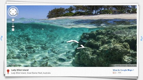 Google are mapping reefs