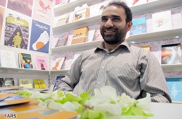 رضا امیرخانی نویسنده رمان قیدار در نمایشگاه کتاب فرانکفورت