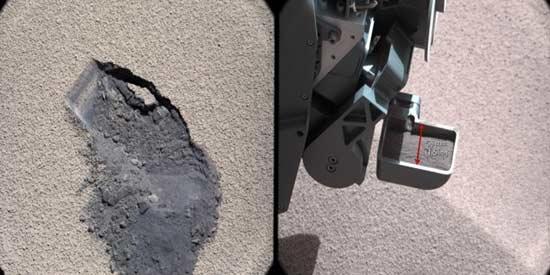 مواد معدنی در خاک مریخ