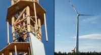 ساخت نخستین توربین بادی چوبی جهان
