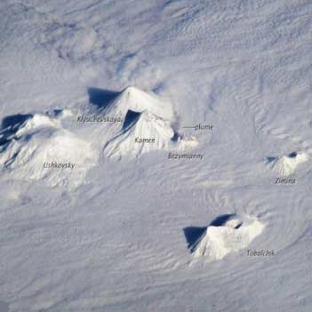 آتشفشانهای روسیه از فضا