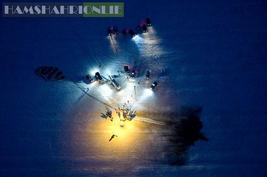 فرود کپسول سایوز در میان برفها