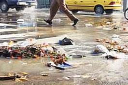 جویهای پر از زباله و مشکل آبگرفتگی