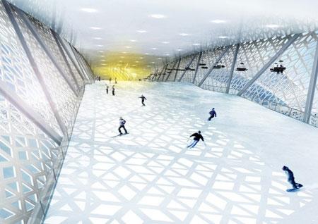 ساخت بزرگترین پیست اسکی مسقف جهان در دانمارک