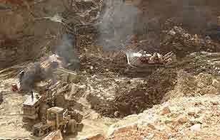 معدن طبس انفجار