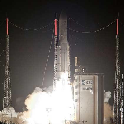 دو ماهواره ارتباطی بریتانیا و مکزیک با موشک اروپایی پرتاب شدند