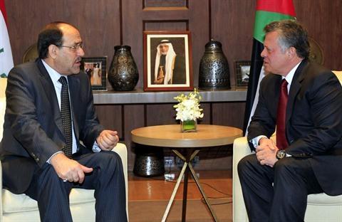 پادشاه اردن و نخست وزیر عراق دیدار کردند