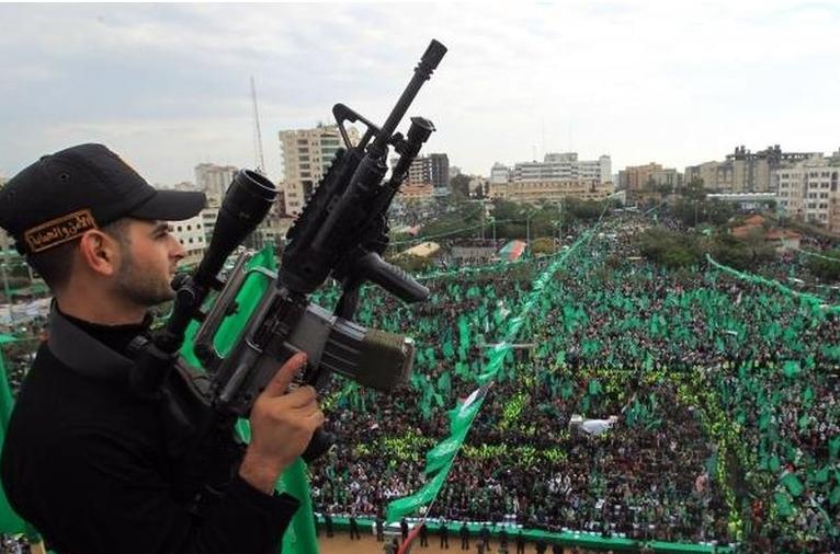 ساکنان غزه سالگرد تاسیس جنبش حماس را جشن گرفتند