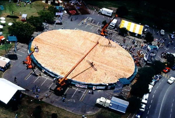 largest pizza